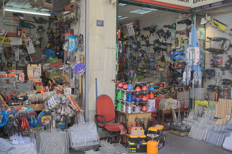 A shop on the outside part of the market