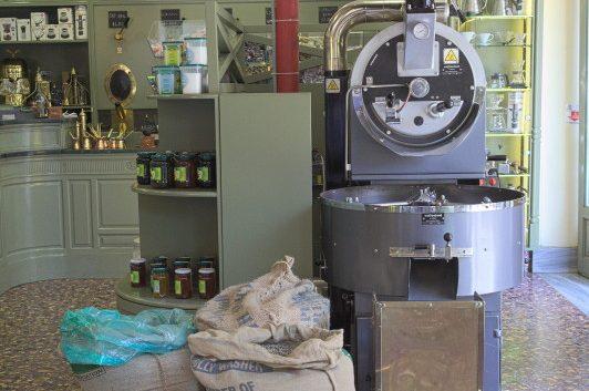 On eof the coffee roasters