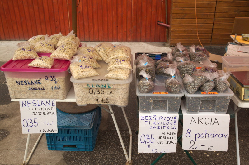 Pumpkin seeds stall