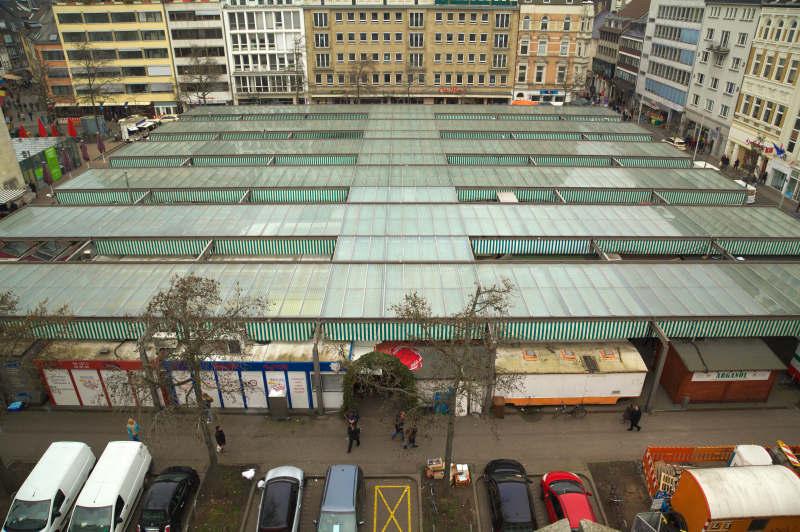 Carlsplatz market - view from above