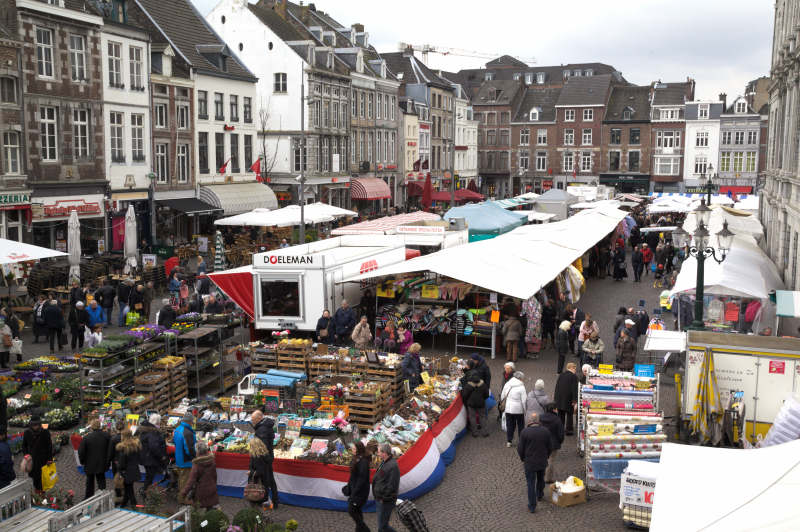 One wing of the market