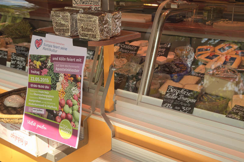 Selling cheese and promoting the Love Your Local Market event