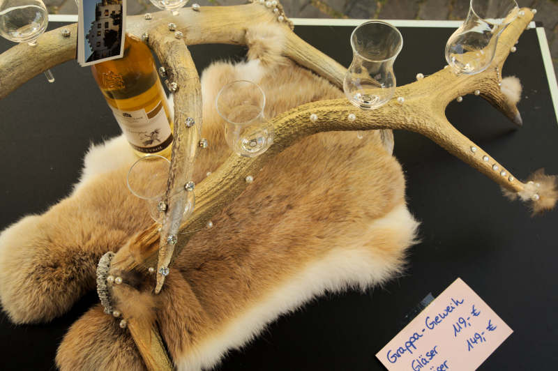 The lady butcher's hobby: transforming antlers