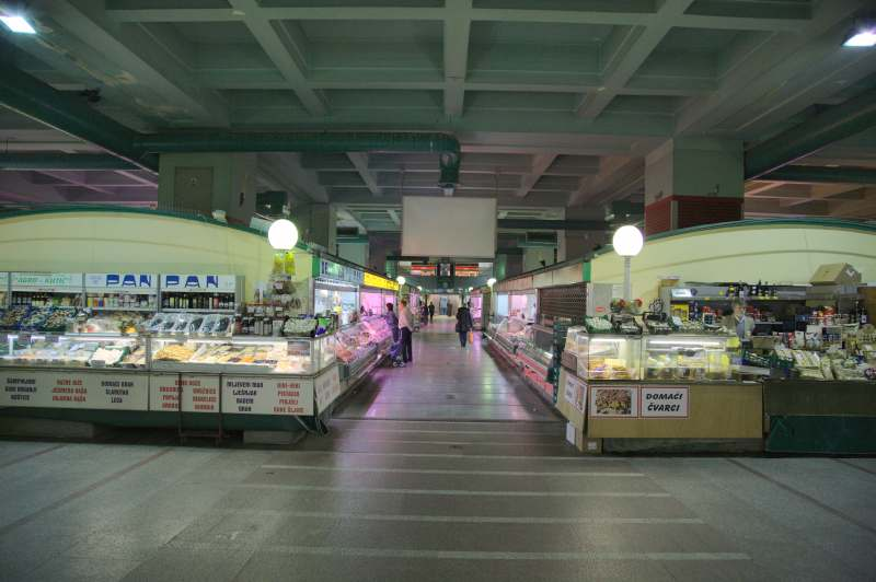Dolac market hall - view from the main entrance