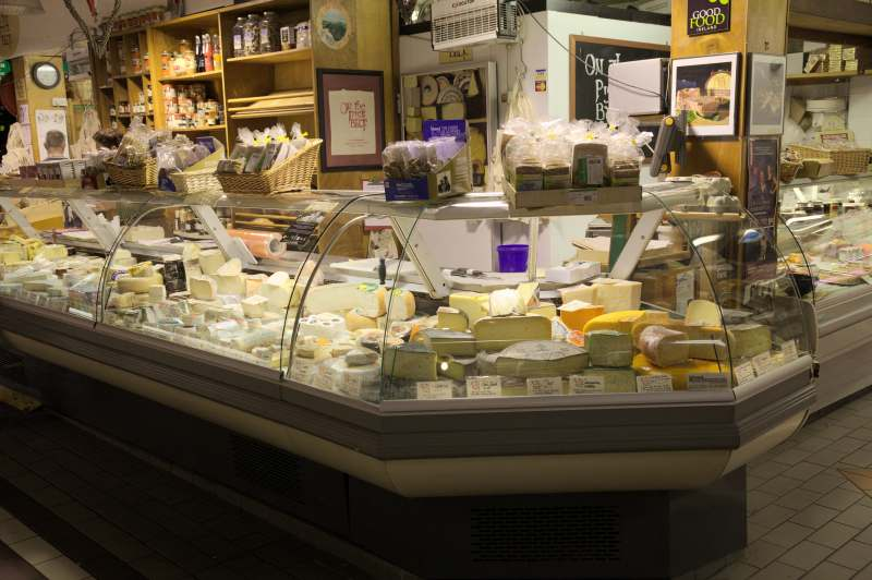 The charcuterie & cheese stall