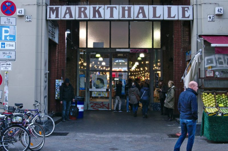 The entrance of Markthalle 9