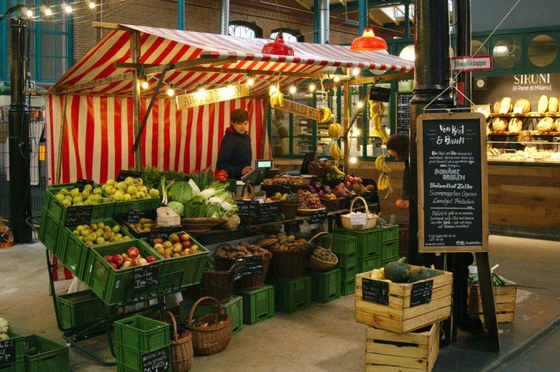 One of the few veggie stalls