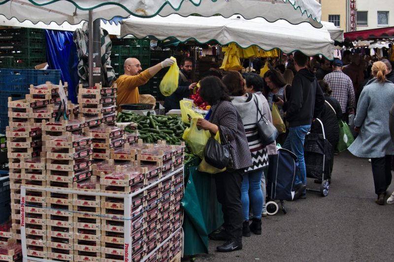 Serving the customers at Cologne Nippes Market