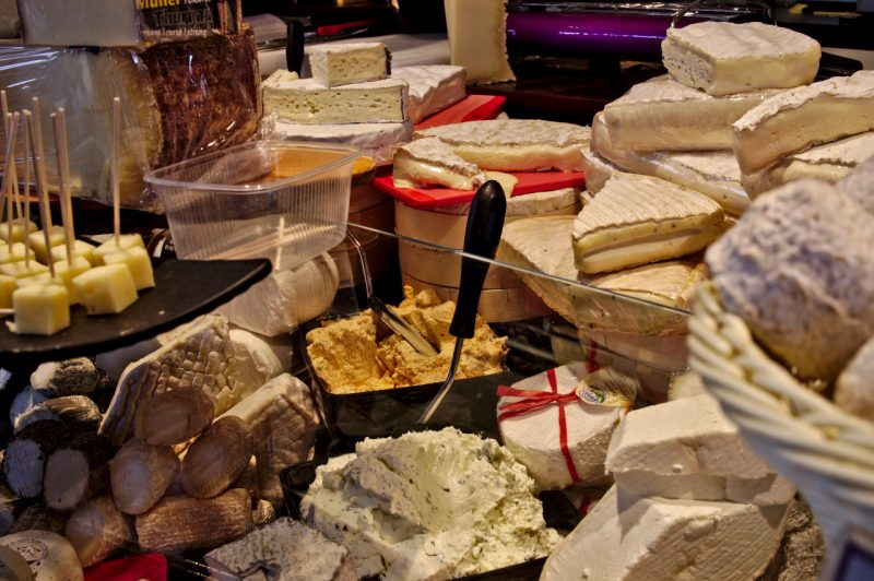 High quality cheese at Cologne Nippes Market